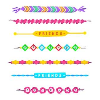 Kleurrijke vriendschapsbandcollectie