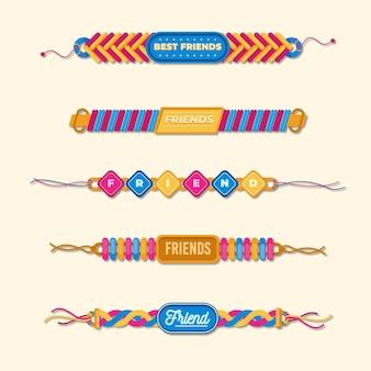 Kleurrijke vriendschapsbandenset