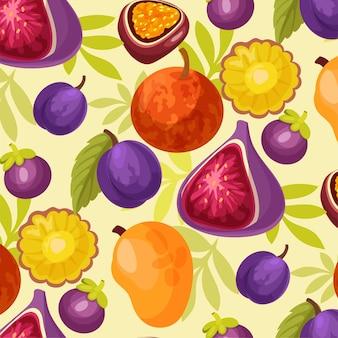 Kleurrijke vruchten illustratie aquarel