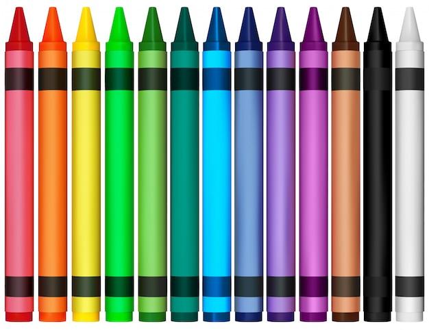 Kleurrijke waskrijtjes