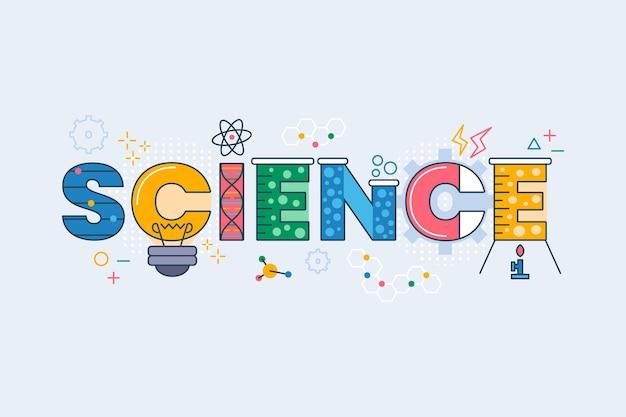 Kleurrijke wetenschap werkconcept