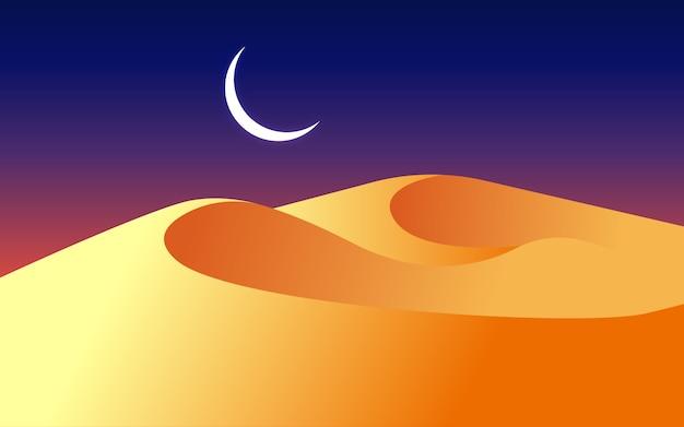 Kleurrijke woestijn achtergrond