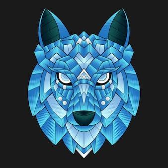 Kleurrijke wolf illustratie