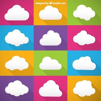 Kleurrijke wolken collectie