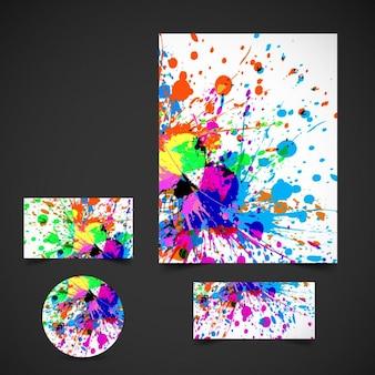 Kleurrijke zakelijke briefpapier set