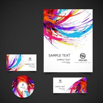Kleurrijke zakelijke briefpapier