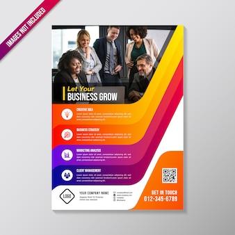 Kleurrijke zakelijke brochure ontwerpsjabloon