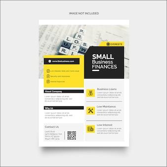 Kleurrijke zakelijke financiën zakelijke flyer
