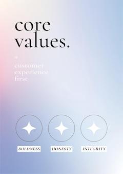 Kleurrijke zakelijke poster op paarse achtergrond met kleurovergang