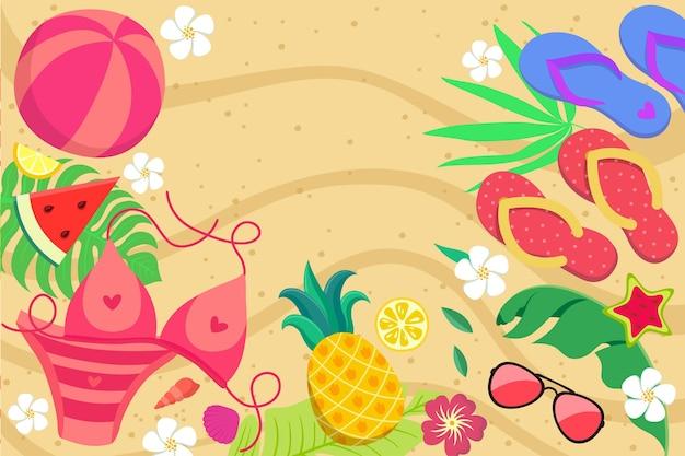 Kleurrijke zomer achtergrond voor zoom
