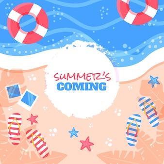 Kleurrijke zomer achtergrond