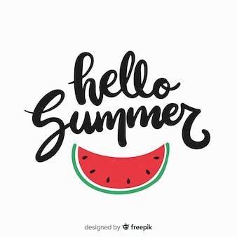 Kleurrijke zomer belettering