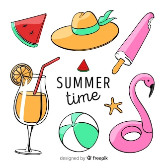 Kleurrijke zomer elementen collectie