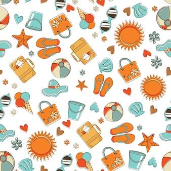 Kleurrijke zomer naadloze patroon