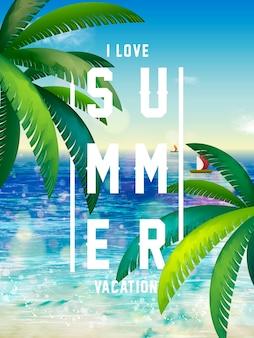 Kleurrijke zomer ontwerpconcept