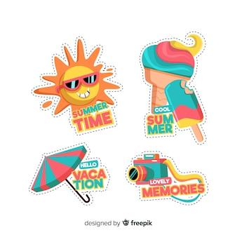 Kleurrijke zomer sticker collectie