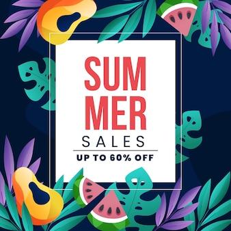 Kleurrijke zomer verkoop conceot