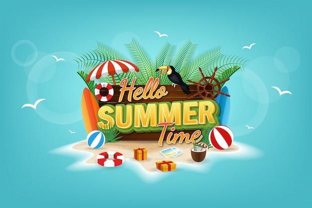 Kleurrijke zomer verkoop concept banner