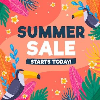 Kleurrijke zomer verkoop concept