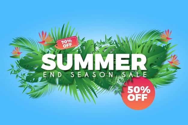 Kleurrijke zomer verkoop promotionele achtergrond