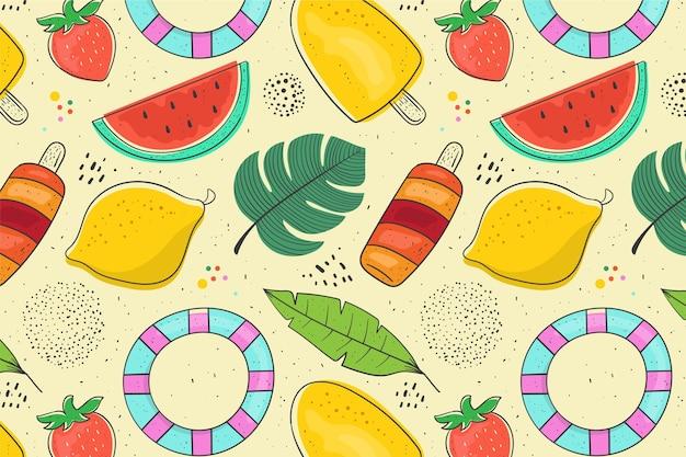 Kleurrijke zomerpatroon