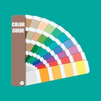 Kleurstaal. kleurenpalet gids.