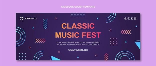 Kleurverloop kleurrijk muziekfestival facebook-omslag Gratis Vector