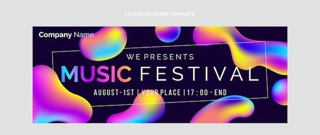 Kleurverloop kleurrijk muziekfestival facebook-omslag
