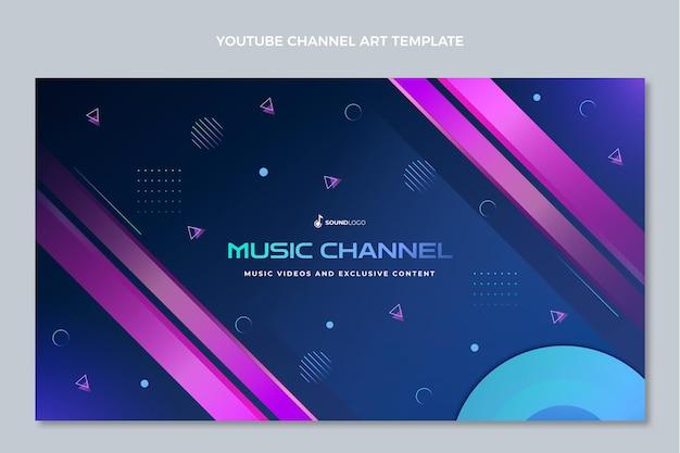 Kleurverloop kleurrijk muziekfestival youtube-kanaalkunst