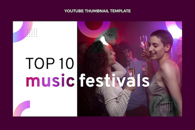 Kleurverloop kleurrijk muziekfestival youtube-thumbnail