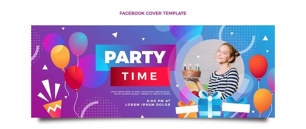 Kleurverloop kleurrijke verjaardag facebook omslag