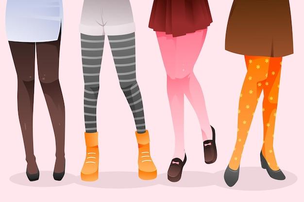 Kleurverloop panty panty pack