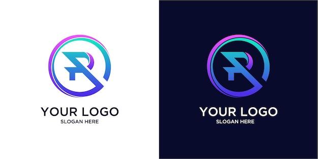 Kleurverloop r-logo's