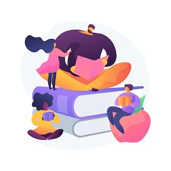 Kleuterschool abstract concept vectorillustratie. hoogwaardig voorschools programma, coöperatieve en particuliere kinderdagverblijf, educatieve ruimte, tweetalige kleuterschool, jonge abstracte metafoor voor baby's.