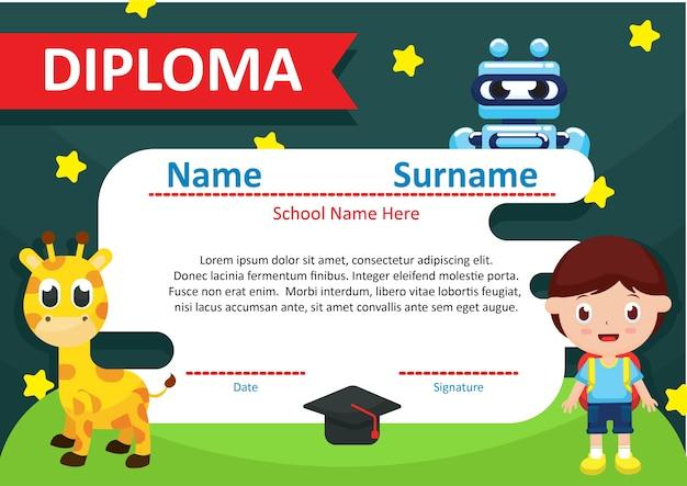 Kleuterschool diploma certificaat