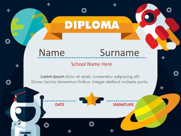 Kleuterschool science diploma certificaat