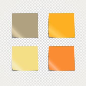 Kleverige papieren sjabloon geïsoleerd op transparante achtergrond