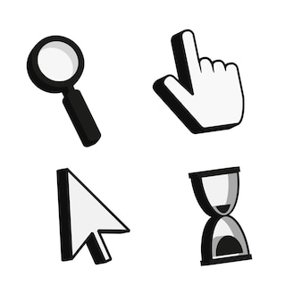 Klik op cursor 3d pictogram