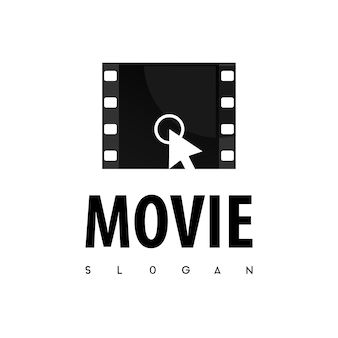Klik op movie logo vector