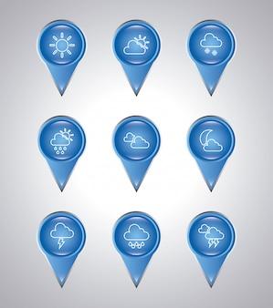 Klimaatbollen over grijze achtergrond vectorillustratie