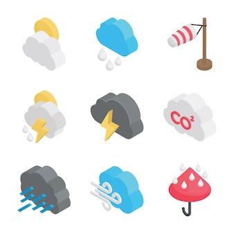 Klimaatomstandigheden pictogrammen