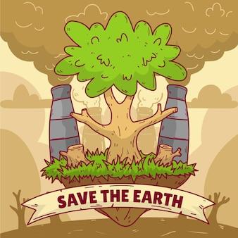 Klimaatverandering concept hand getrokken