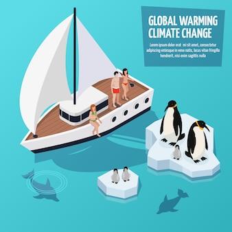 Klimaatverandering isometrische samenstelling