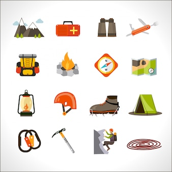 Klimmen icons set