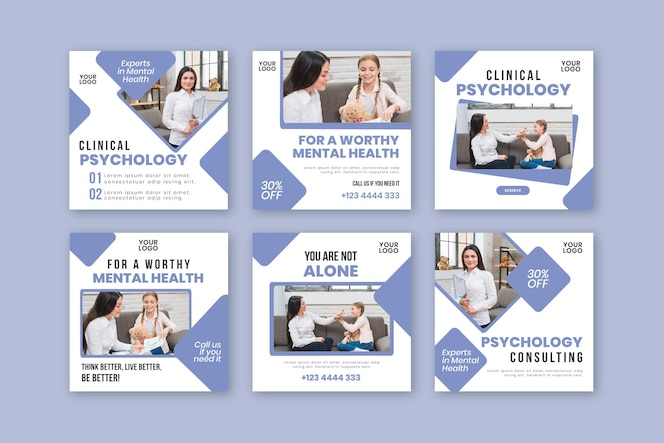 Klinische psychologie instagram postsjabloon