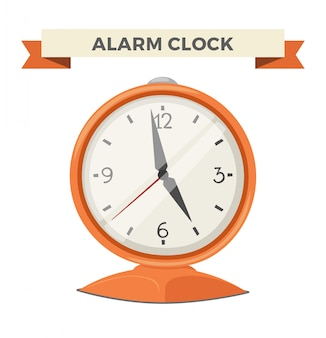 Klok kijken alarm pictogram illustratie