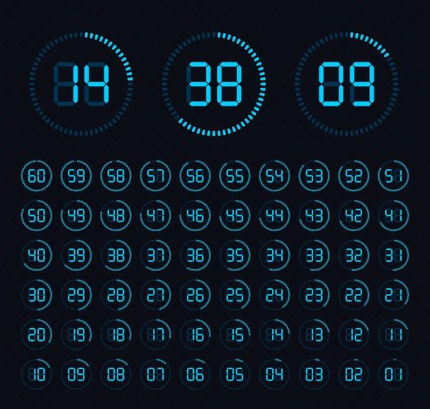 Klok wijzerplaat. timers. de klok met minuten weergeven.
