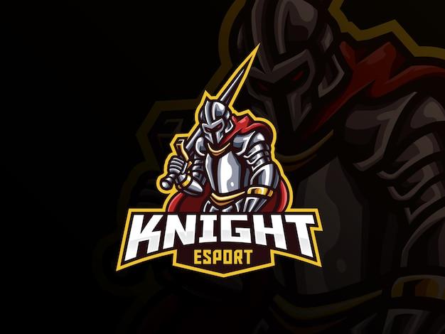 Knight mascotte sport logo ontwerp