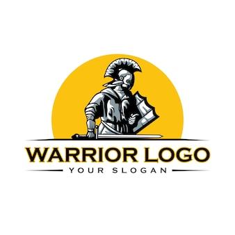 Knight warrior spartan logo template