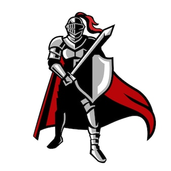 Knights ready pose